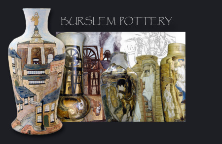 A range of hand made,hand drawn and hand painted vases from Burslem pottery.