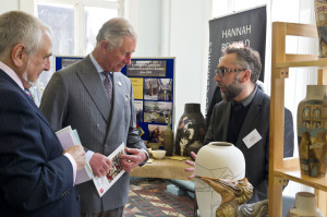 Steve Shaw meeting HRH Prince Charles,at Burslem pottery's demonstration event.